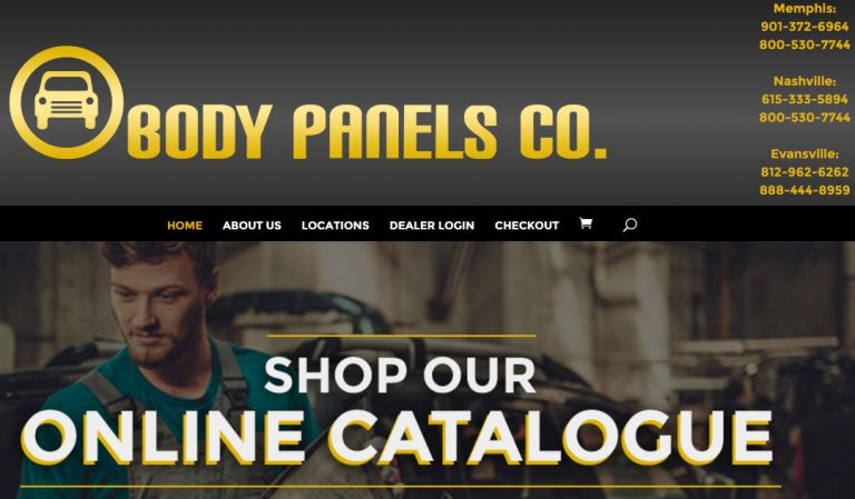 Custom Built WordPress Website – Body Panels Company
