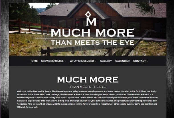 The Diamond M Ranch – Custom Built WordPress Website