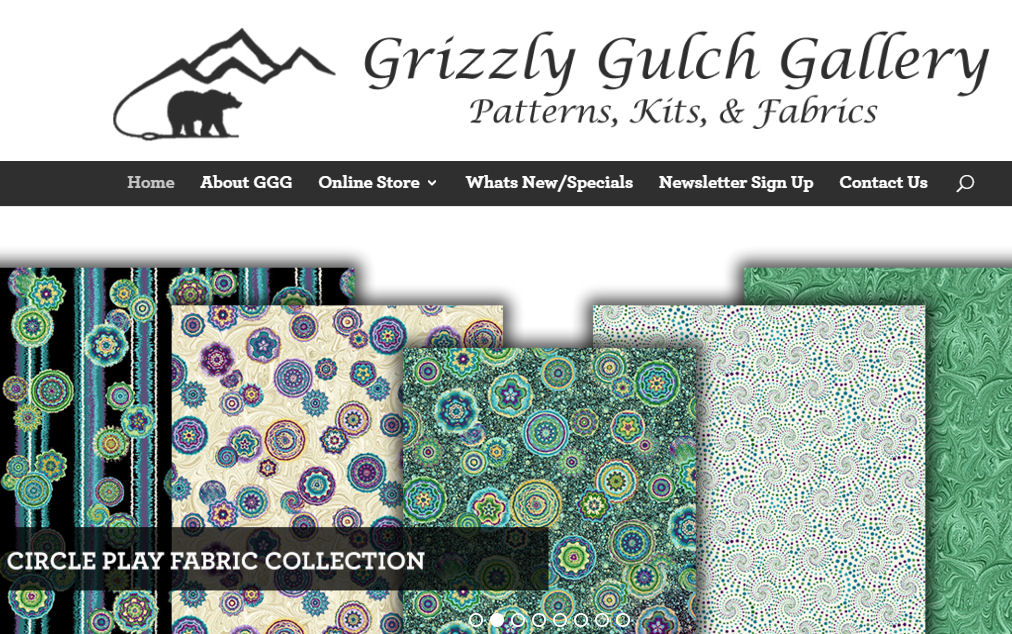 Custom Built WordPress Website – Grizzly Gulch Gallery