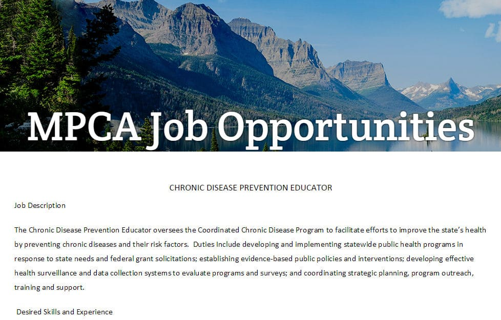 Montana Primary Care Association – Job Board
