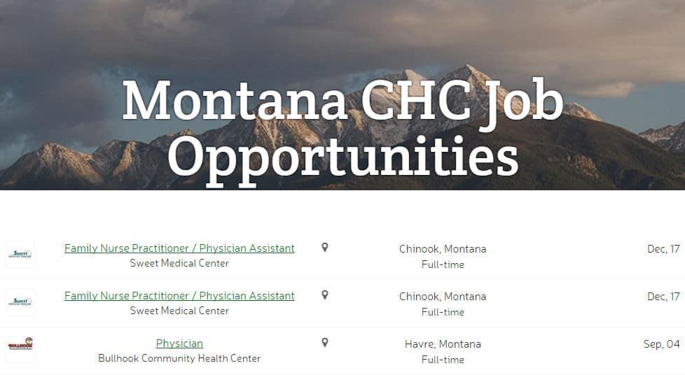 Montana CHC Job Opportunities