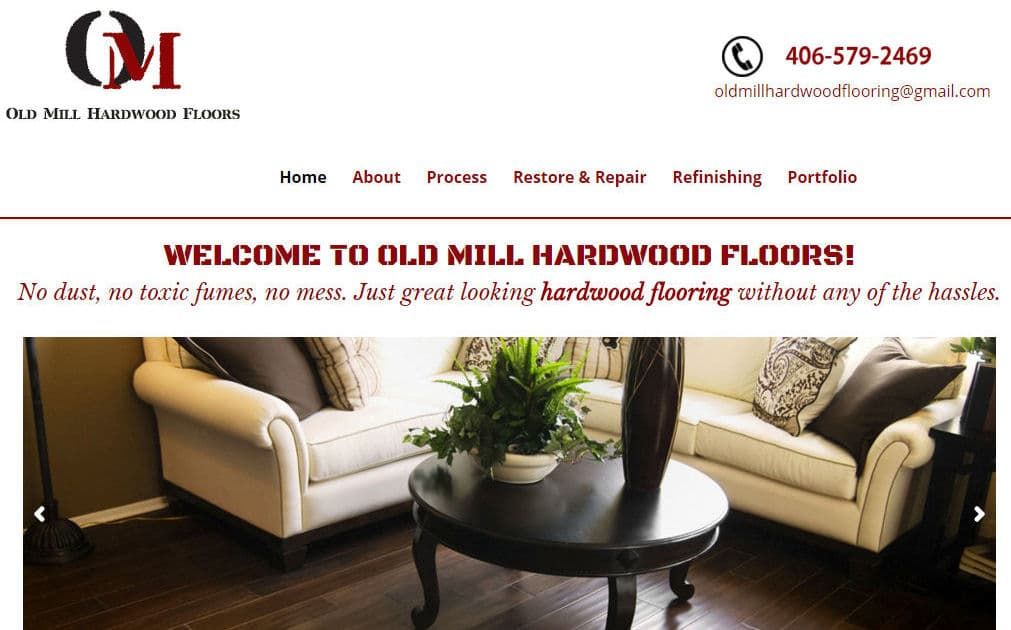 Divi Theme Example – Old Mill Hardwood Floors