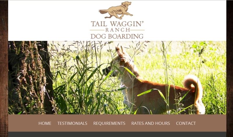 Tail Waggin' Ranch Dog Boarding Website