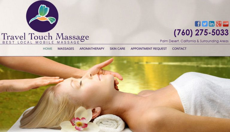 Custom Built WordPress Website – Travel Touch Massage