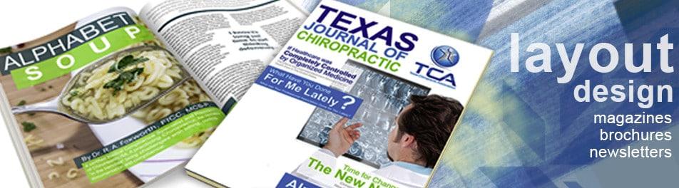 Layout Design - Magazine Layouts, Brochure Layouts, Newsletter Layouts