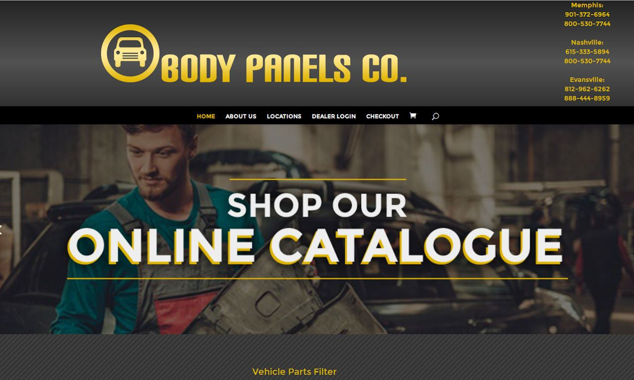 Custom Built WordPress Website – Body Panels Company