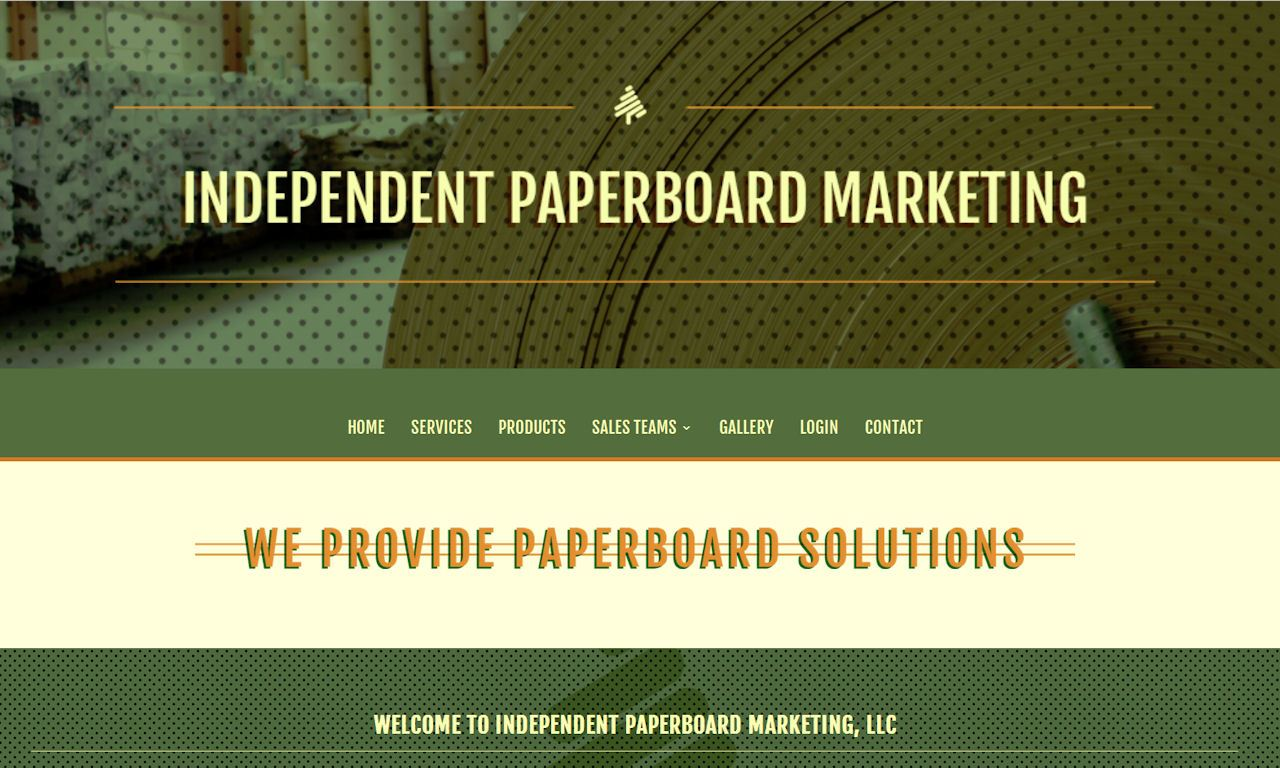 Custom Built WordPress Website – Independent Paperboard Marketing