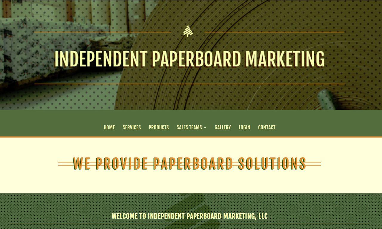 Custom Built WordPress Website – Independent Paperboard Marketing