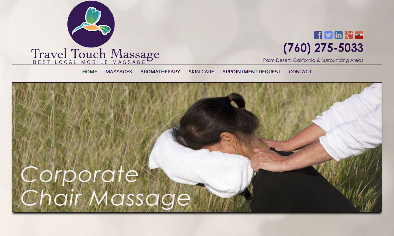 Custom Built WordPress Website – Travel Touch Massage