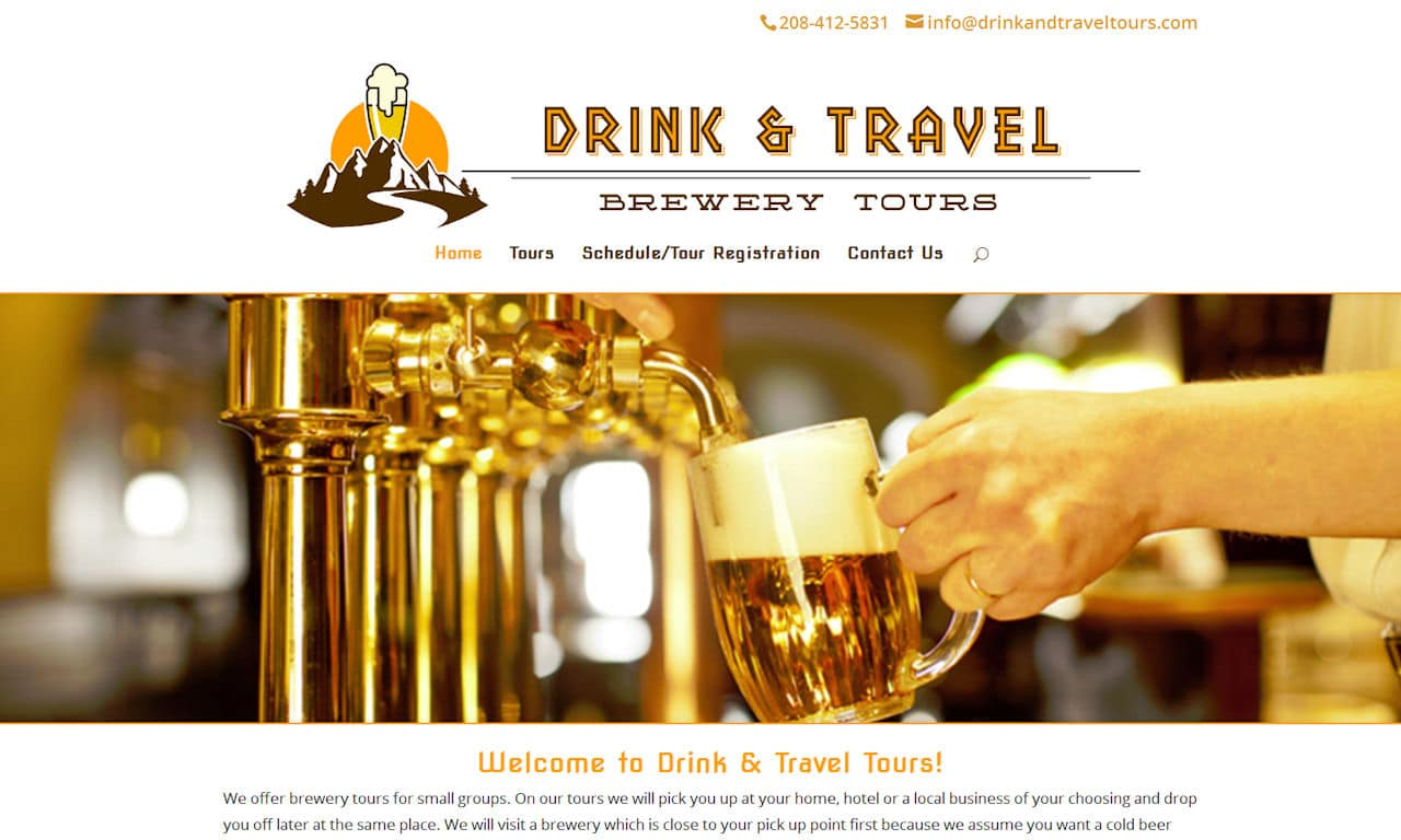 Custom Built WordPress Website – Drink & Travel Tours