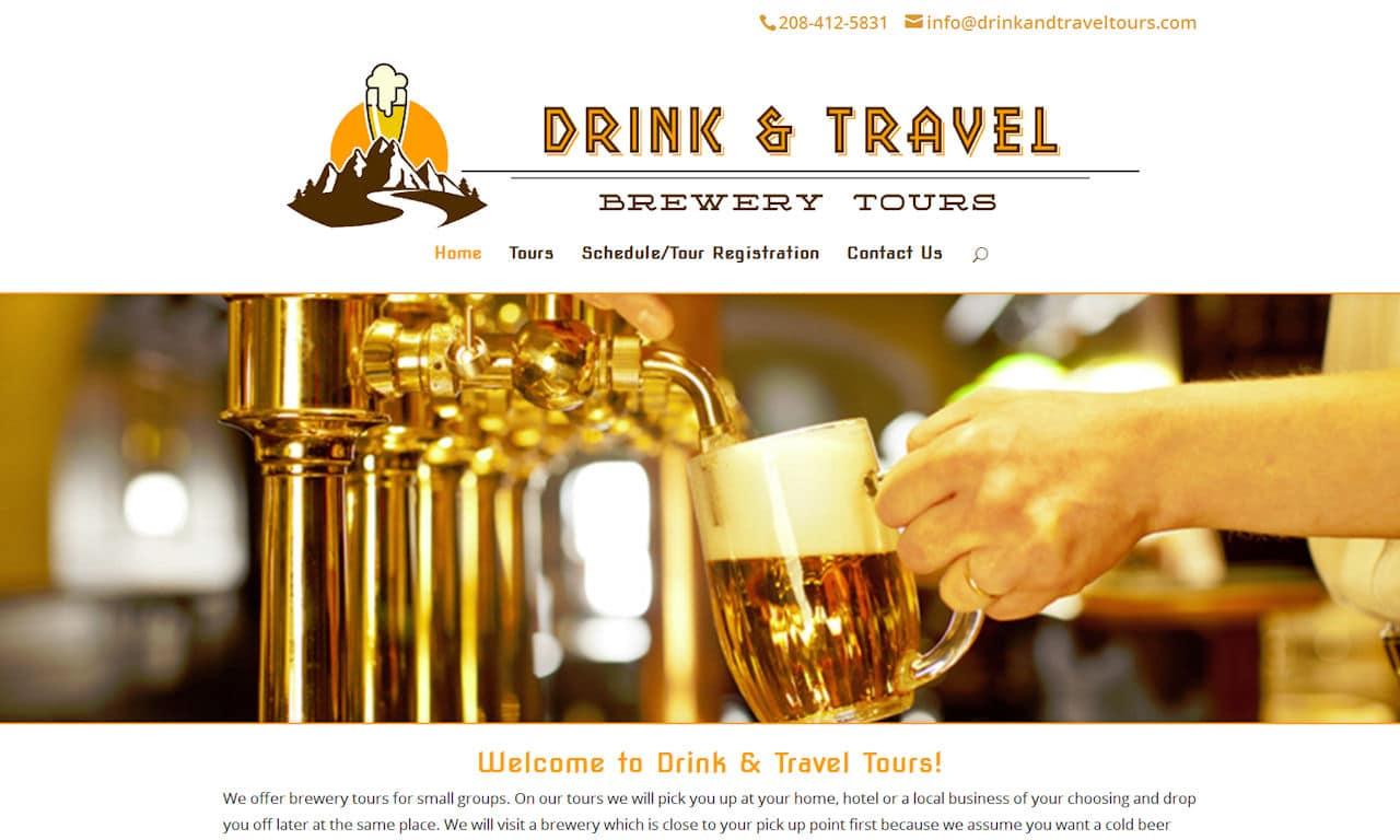 Custom Built WordPress Website – Drink & Travel Tours