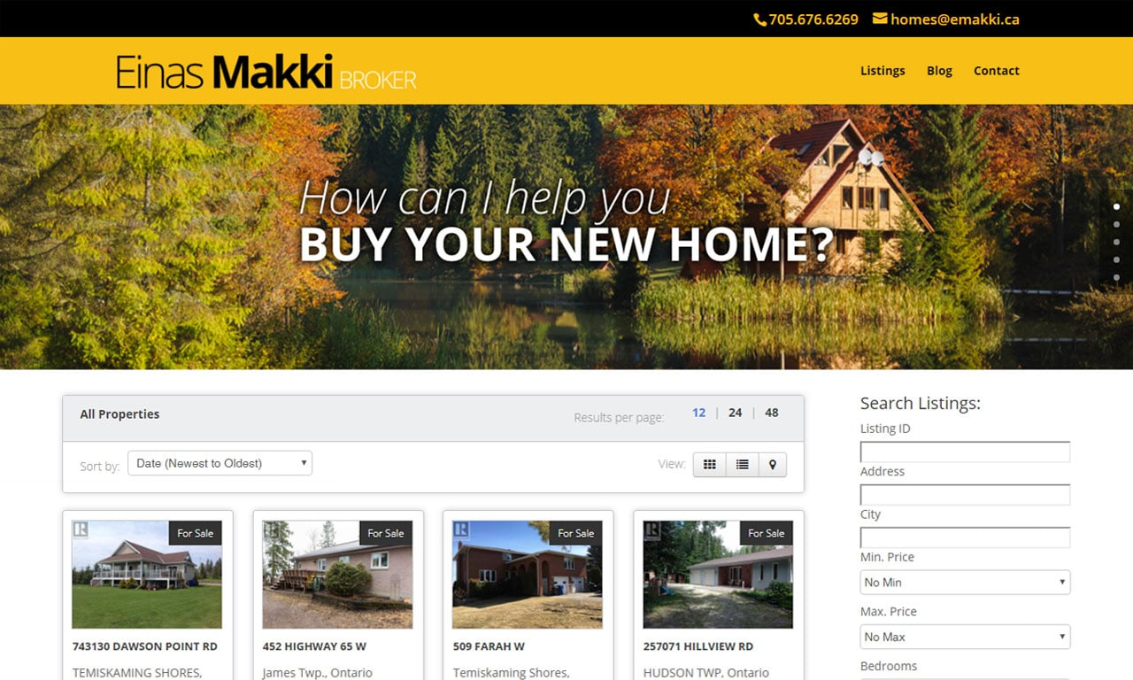 Custom Built WordPress Website – Einas Makki