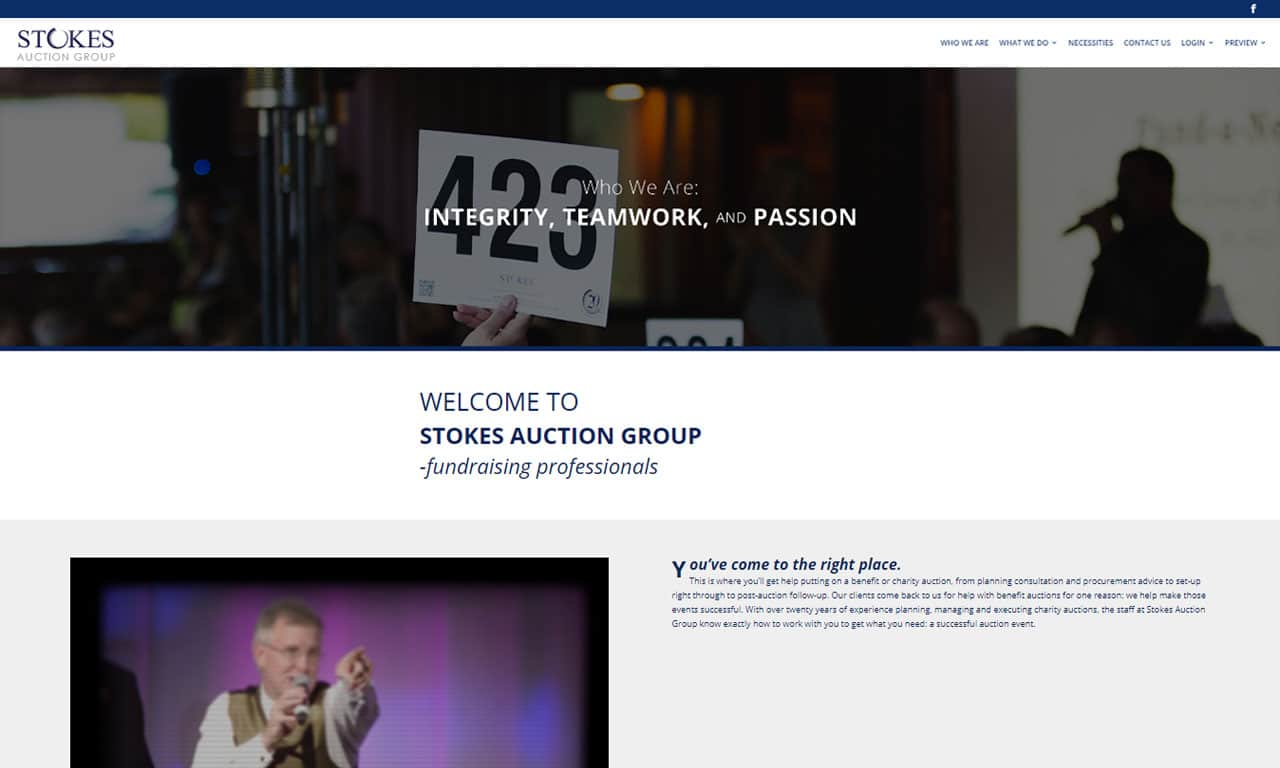 Custom Built WordPress Website – Stokes Auction Group