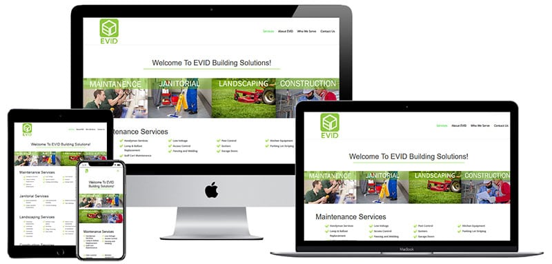 recent website built by Innovative Solutions Group - evidnow.com