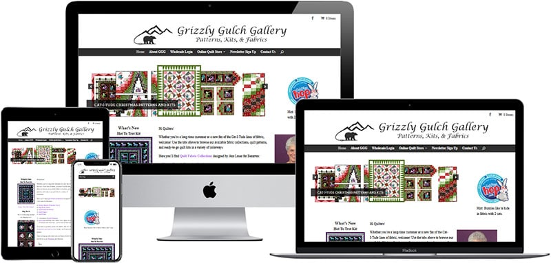 recent website designed by Innovative Solutions Group - grizzlygulchgallery.com