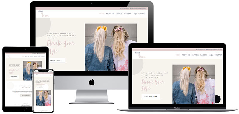 recent website designed by Innovative Solutions Group - hairbytatum.com