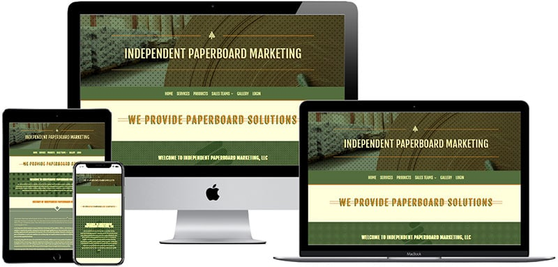 recent website designed by Innovative Solutions Group - independentpaperboard.com