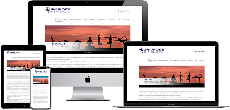 recent website built by Innovative Solutions Group - sharitate.com