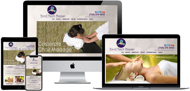 recent website designed by Innovative Solutions Group - traveltouchmassage.com